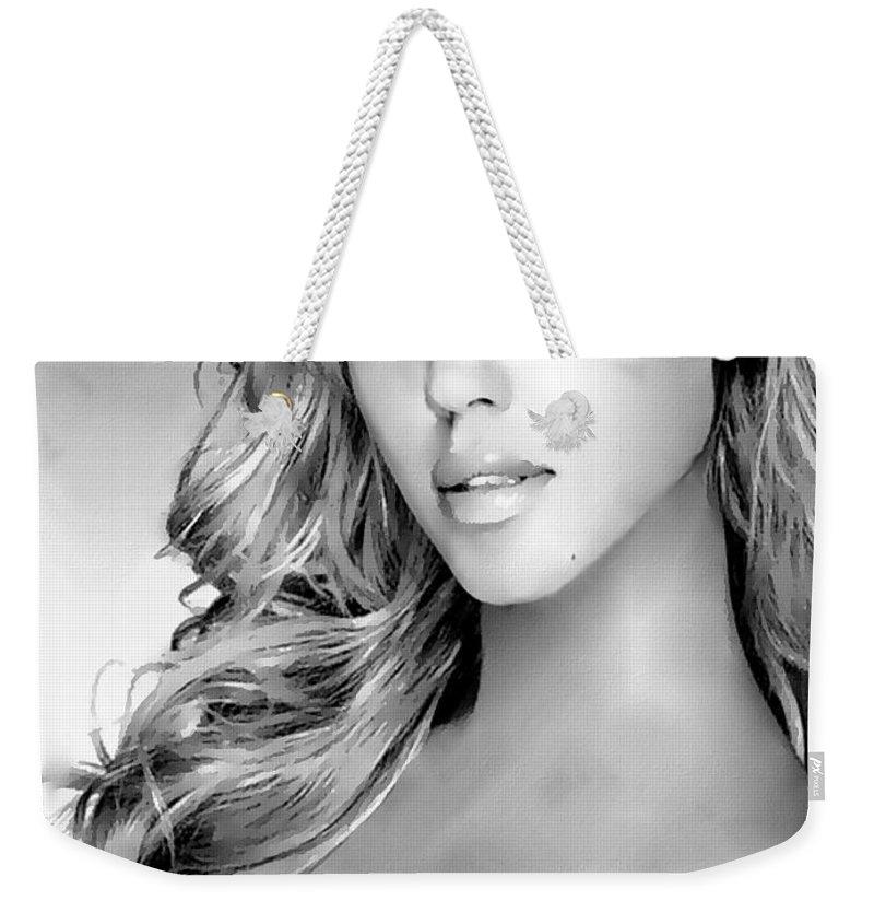 Jessica Alba Weekender Tote Bags