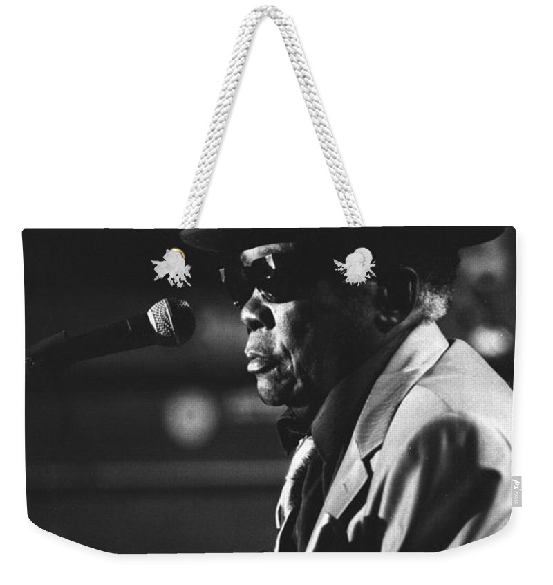 Blues Singer Weekender Tote Bag featuring the photograph John Lee Hooker by Concert Photos