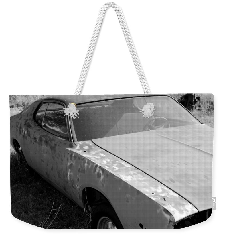 Car Weekender Tote Bag featuring the photograph Just A Little Paint by Glenn Aker