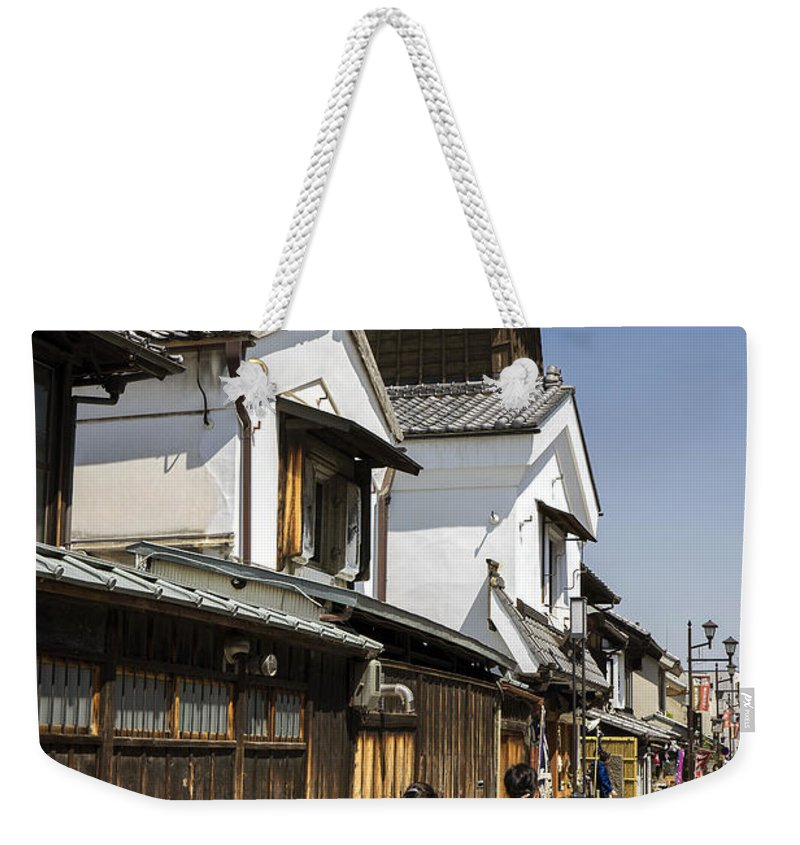 Daytrip Weekender Tote Bag featuring the photograph Kawagoe Bell Tower by For Ninety One Days