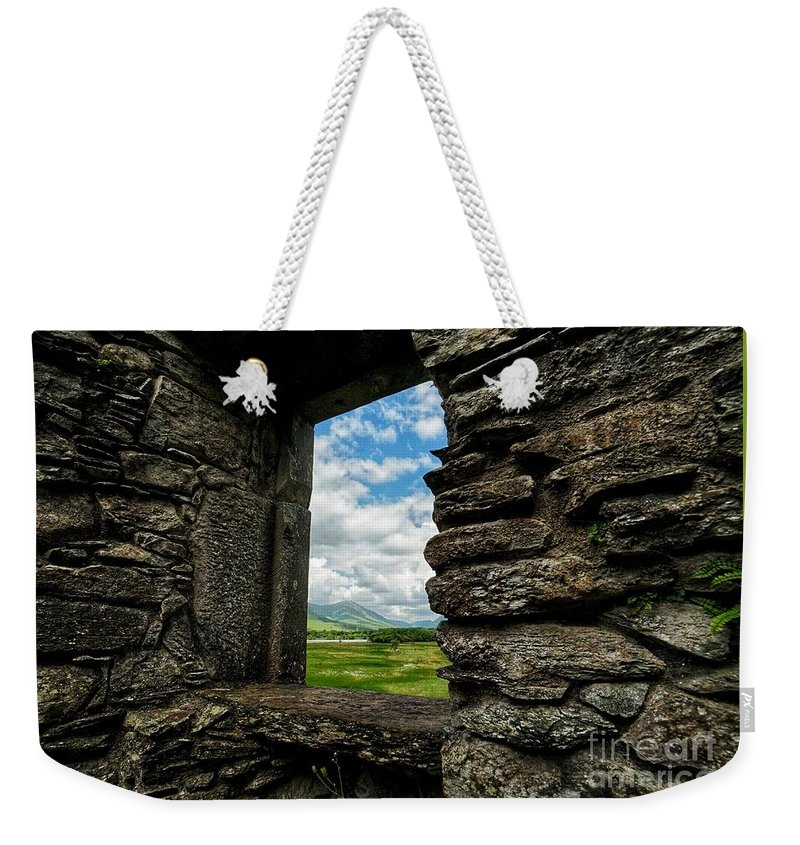 Scotland Weekender Tote Bag featuring the photograph Kilchurn Castle by Traci Law
