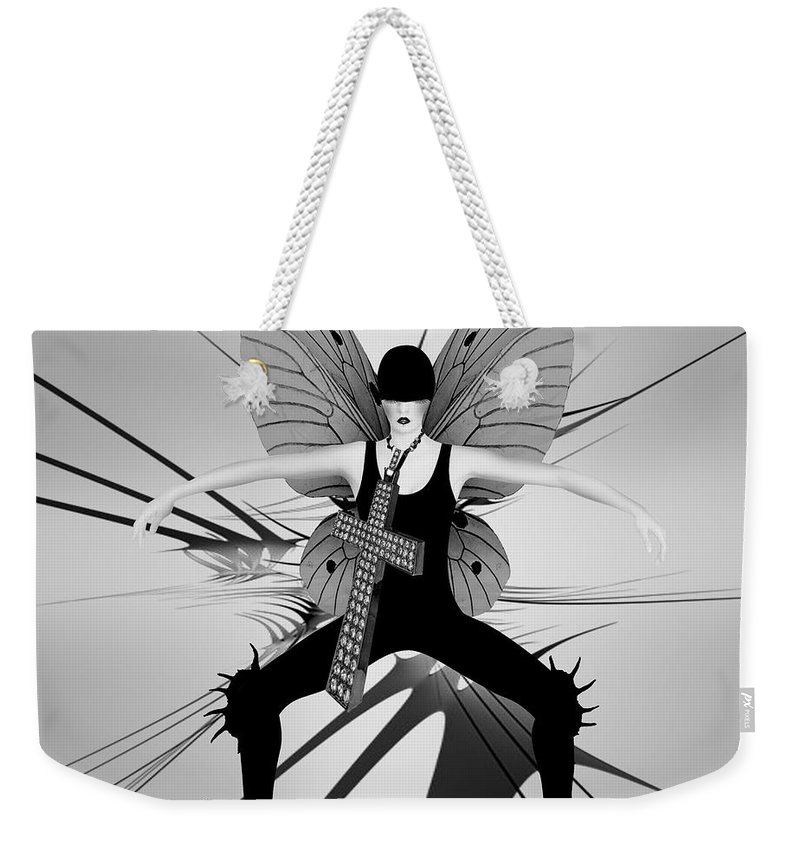Woman Weekender Tote Bag featuring the photograph Lady D 4 by Mark Ashkenazi
