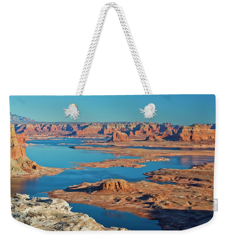Tranquility Weekender Tote Bag featuring the photograph Lake Powell by Chen Su