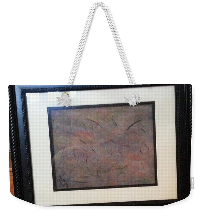 Framed Picture Weekender Tote Bag featuring the painting Layers by Myrtle Joy