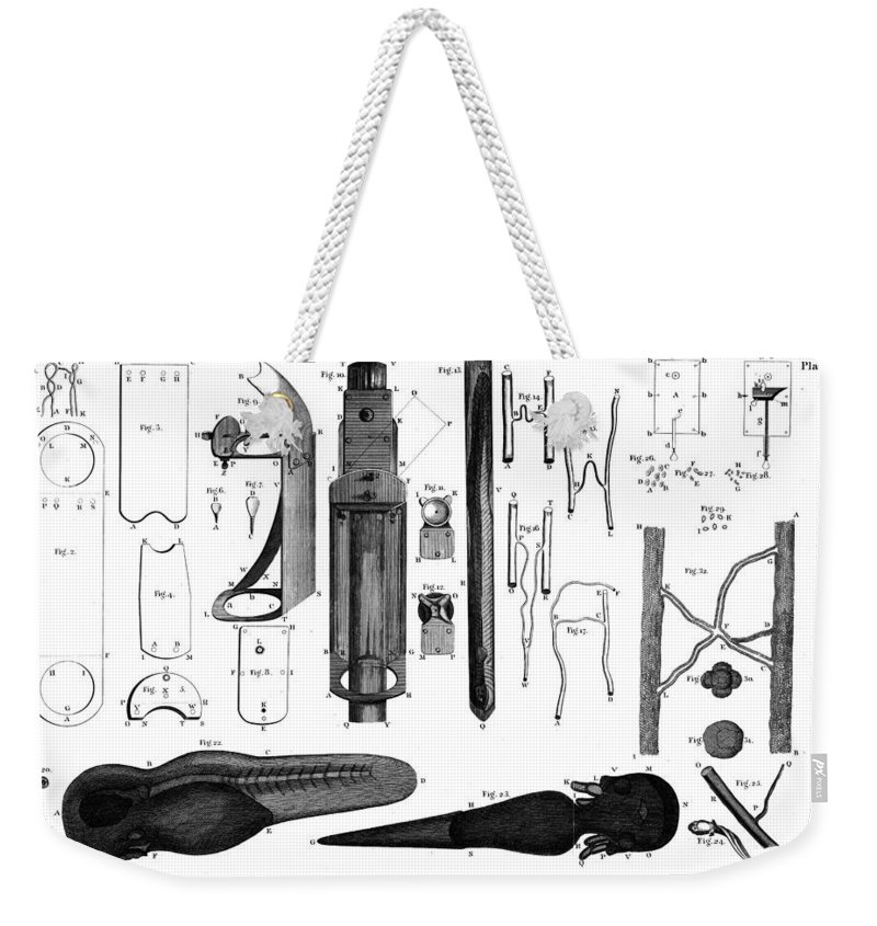 1800 Weekender Tote Bag featuring the photograph Leeuwenhoek: Microscope by Granger
