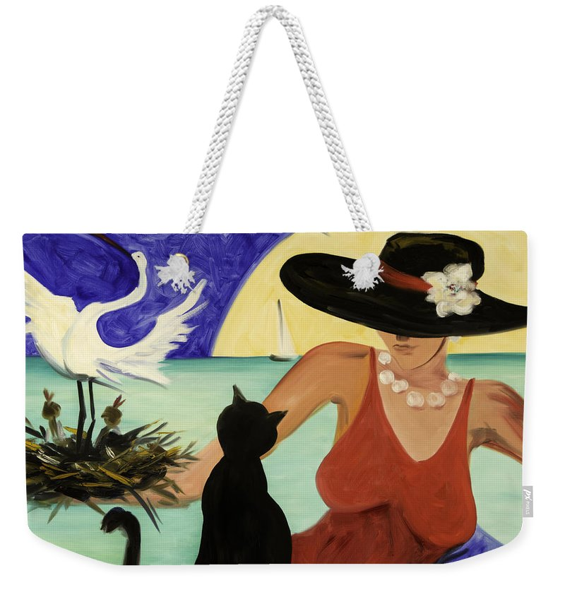 Colorful Art Weekender Tote Bag featuring the painting Living The Dream by Gina De Gorna