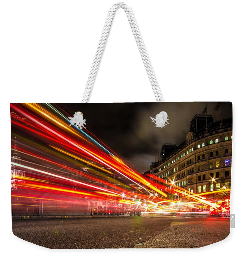 London Weekender Tote Bag featuring the photograph London Lights by Dawn OConnor