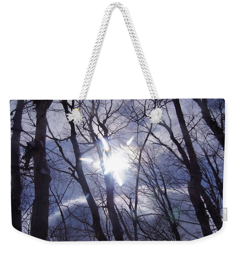 Trees Weekender Tote Bag featuring the photograph Looking Up by Jeffery L Bowers