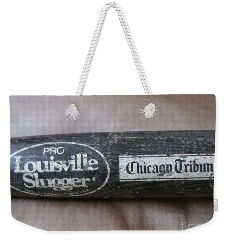 Baseball Bat Weekender Tote Bag featuring the photograph Louisville Slugger by Don Baker