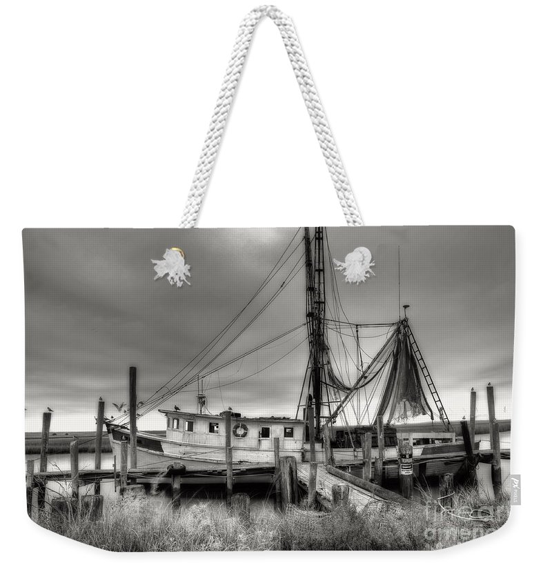 Shrimp Boat Weekender Tote Bag featuring the photograph Lowcountry Shrimp Boat by Scott Hansen