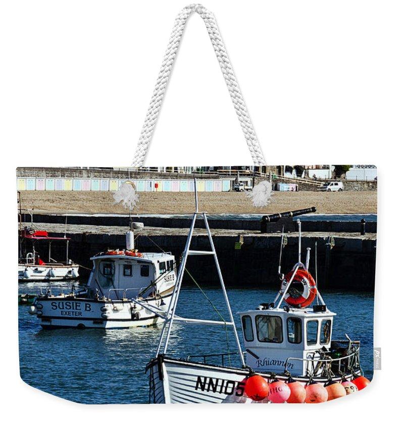Lyme Regis Weekender Tote Bag featuring the photograph Lyme Regis Harbour by Susie Peek