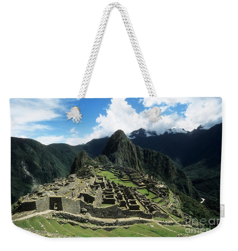Peru Weekender Tote Bag featuring the photograph Machu Picchu Panorama by James Brunker