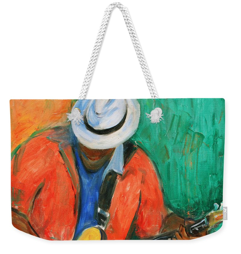 Jazz Festival Weekender Tote Bag featuring the painting Main Stage II by Xueling Zou