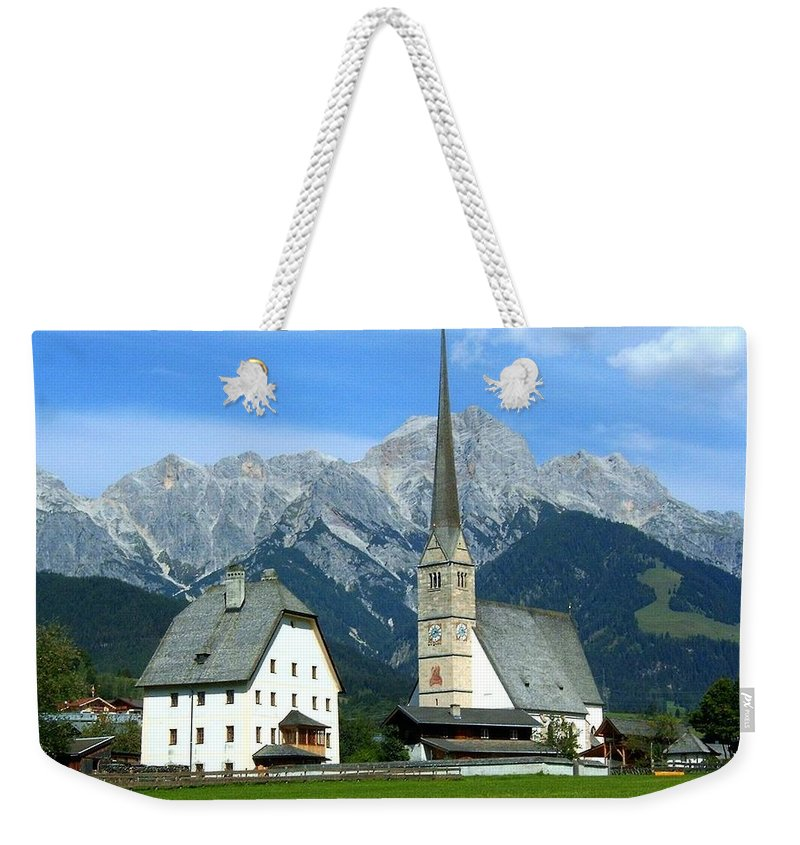 Europe Weekender Tote Bag featuring the photograph Maria Alm by Juergen Weiss
