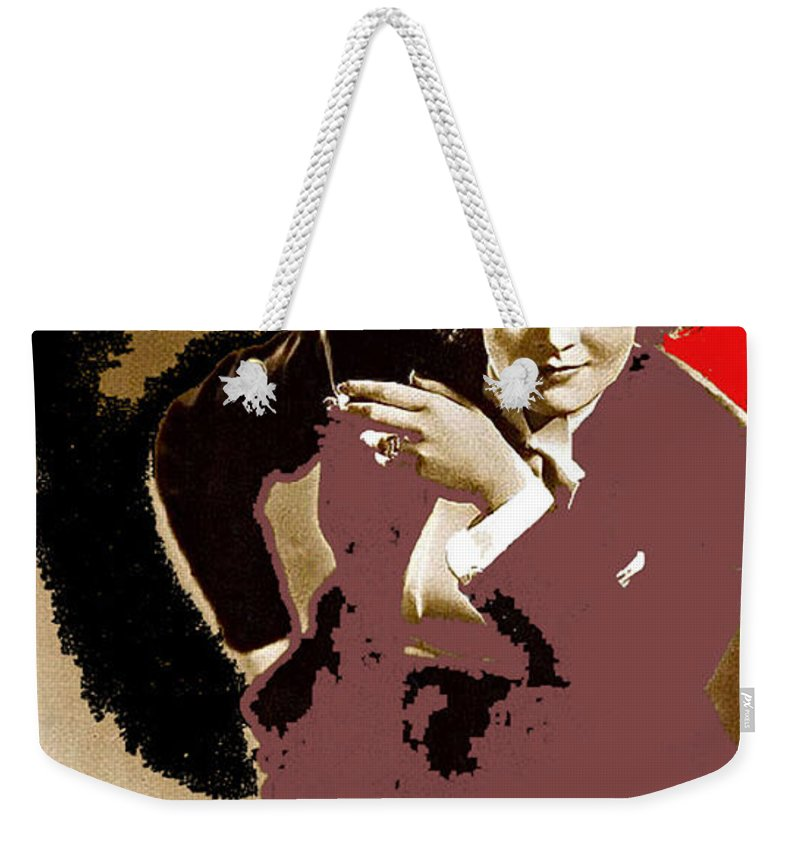 Marlene Dietrich Publicity Photo Morocco 1930 Weekender Tote Bag featuring the photograph Marlene Dietrich Publicity Photo Morocco 1930-2012 by David Lee Guss
