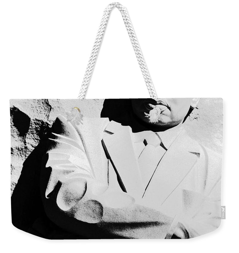 Martin Luther King Weekender Tote Bag featuring the photograph Martin Luther King Memorial by Cora Wandel