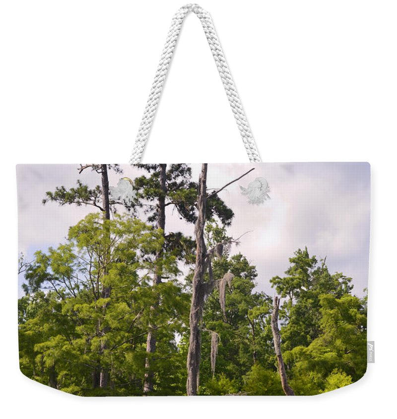 Blue Weekender Tote Bag featuring the photograph Massive by Leticia Latocki
