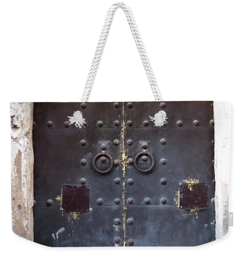 Arch Weekender Tote Bag featuring the photograph Medieval Door by ????? ???????