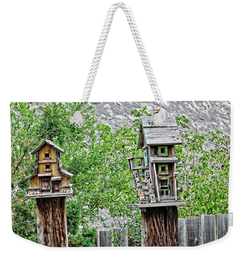 Bird House Weekender Tote Bag featuring the photograph Melba Idaho by Image Takers Photography LLC