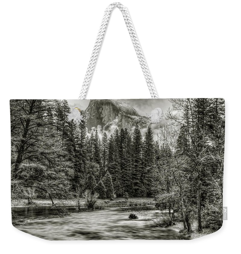Landscape Weekender Tote Bag featuring the photograph Ascending Clouds Toned by Maria Coulson