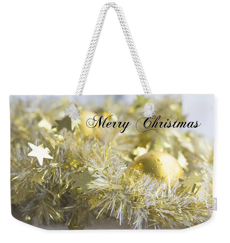 Christmas Weekender Tote Bag featuring the photograph Merry Christmas by Jocelyn Friis