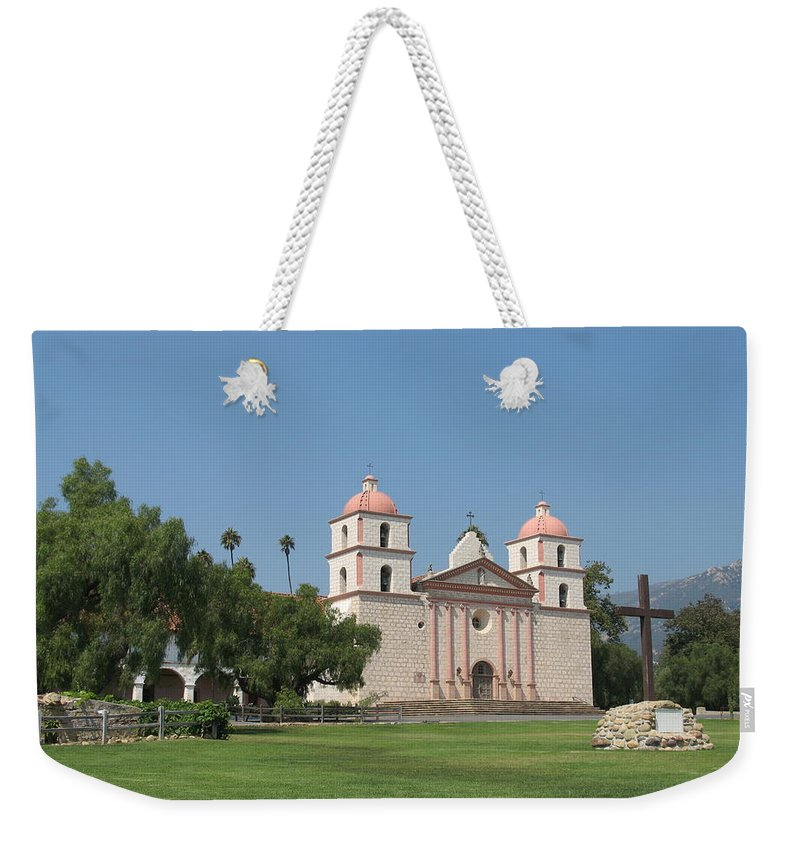 Mission Weekender Tote Bag featuring the photograph Mission Santa Barbara by Christiane Schulze Art And Photography