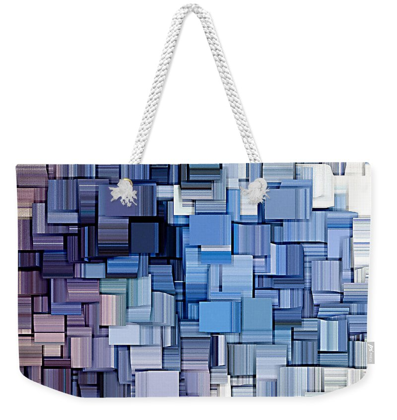 Abstract Weekender Tote Bag featuring the digital art Modern Abstract Vi by Lourry Legarde
