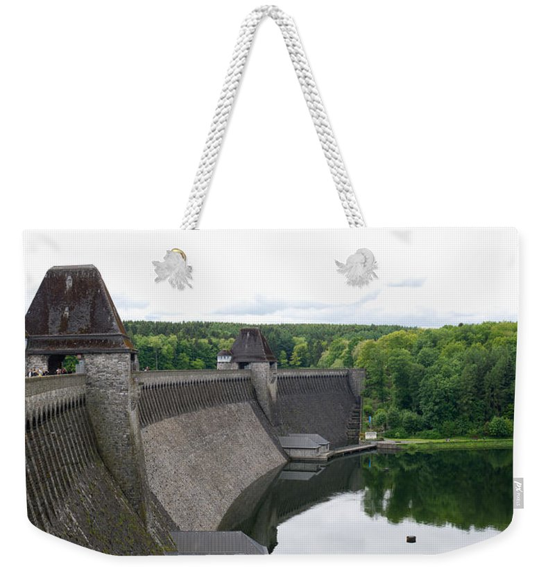 Mohne Dam Weekender Tote Bag featuring the photograph Mohne Dam Wide View by Gary Eason