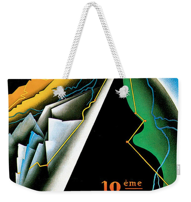 Vintage Automobile Ads And Posters Weekender Tote Bag featuring the painting Monte Carlo Rallye Automobile by Vintage Automobile Ads and Posters