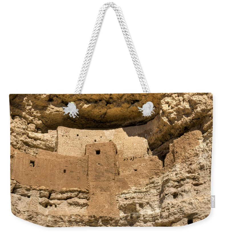 Montezuma Weekender Tote Bag featuring the photograph Montezumas Castle 16 by Douglas Barnett