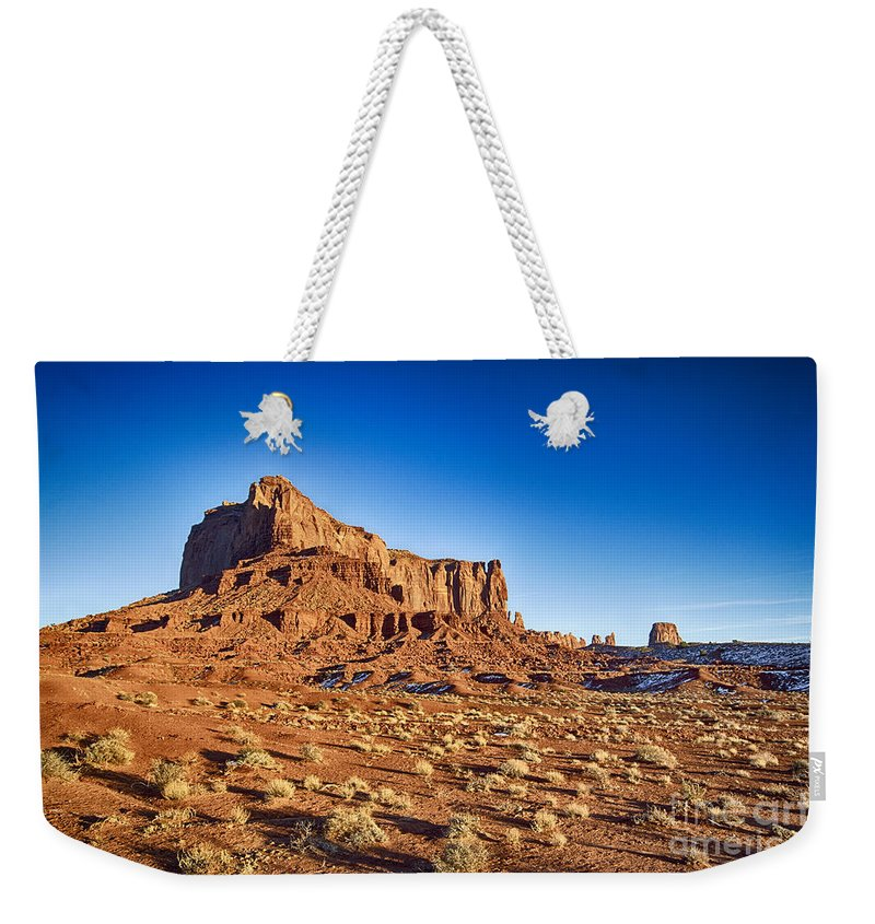 Monument Valley Weekender Tote Bag featuring the photograph Monument Valley -utah V5 by Douglas Barnard