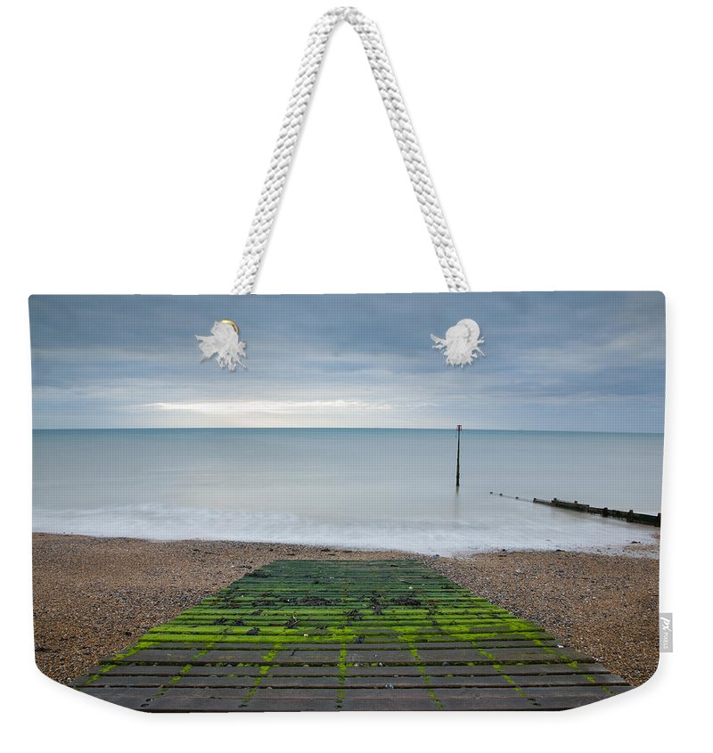 Kingsdown Weekender Tote Bag featuring the photograph Morning At Kingsdown by Ian Middleton