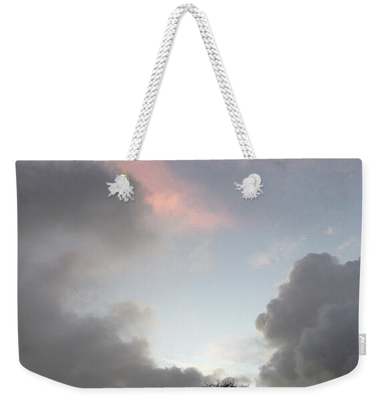 Vertical Weekender Tote Bag featuring the photograph Morning Sky by Les Cunliffe