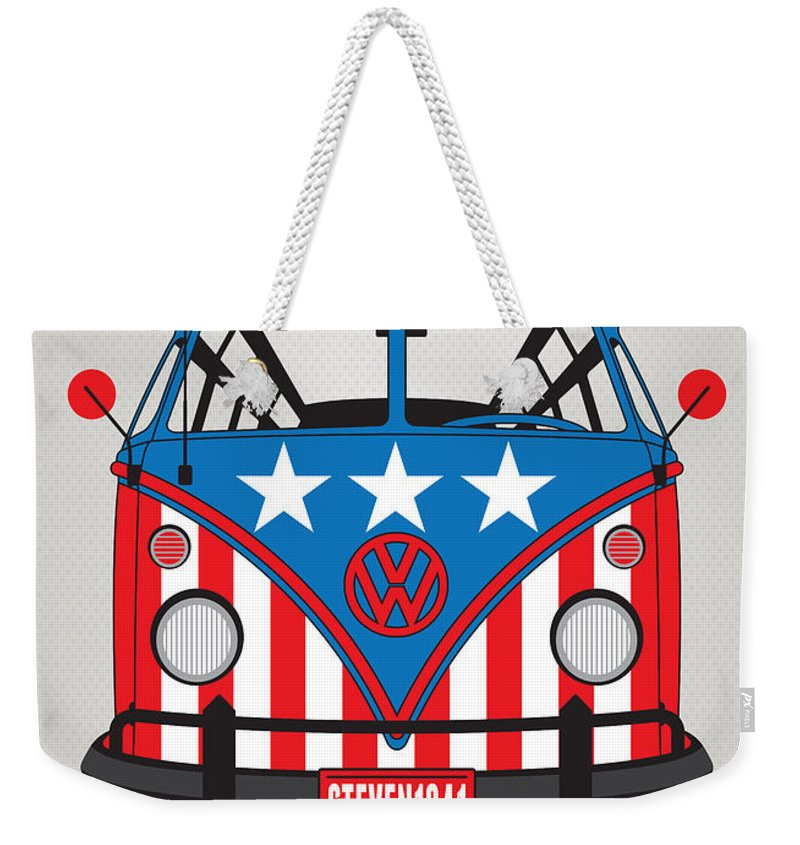Superheroes Weekender Tote Bag featuring the digital art My Superhero-vw-t1-captain America	 1 by Chungkong Art