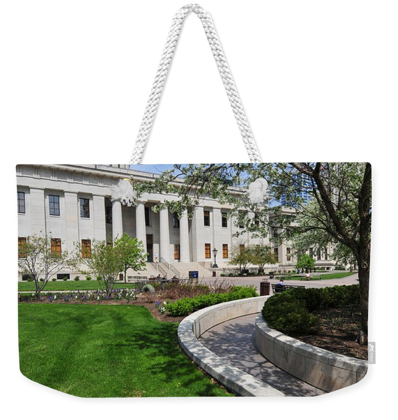 Ohio Statehouse Weekender Tote Bag featuring the photograph D13l-145 Ohio Statehouse Photo by Ohio Stock Photography
