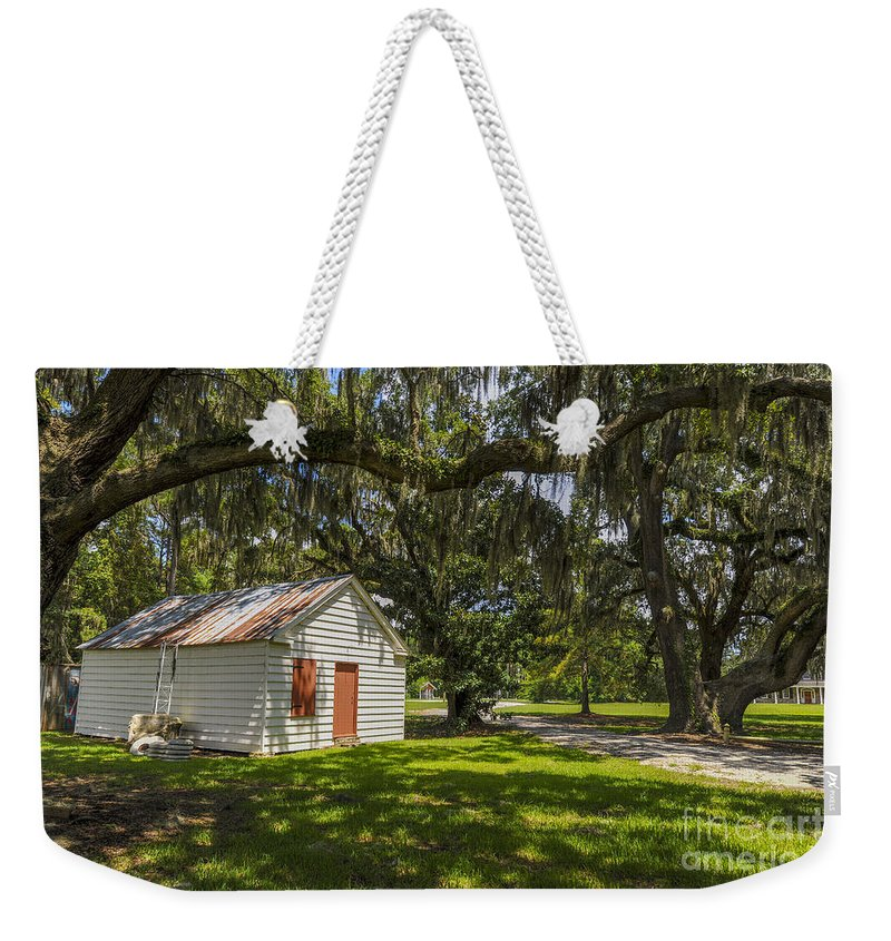 East Cooper Hospital Grounds Weekender Tote Bag featuring the photograph Old Barn by Dale Powell