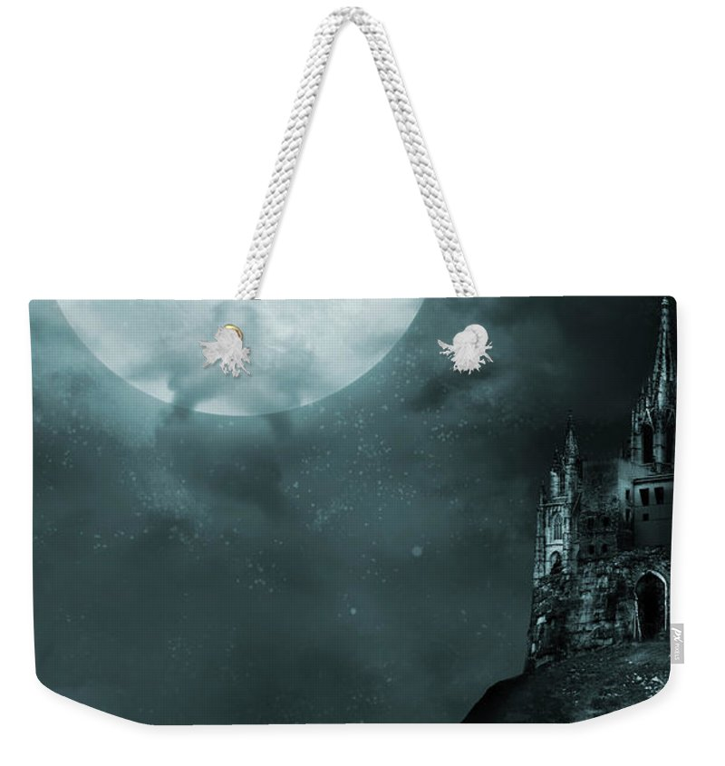 Gothic Style Weekender Tote Bag featuring the photograph Old Castle by Vladgans