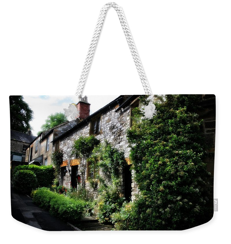 Garden Weekender Tote Bag featuring the photograph Old Terrace Houses - Peak District - England by Doc Braham