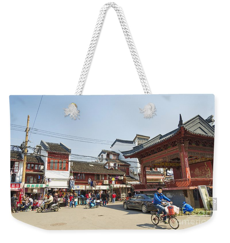 Architecture Weekender Tote Bag featuring the photograph Old Town Of Shanghai China by Jacek Malipan