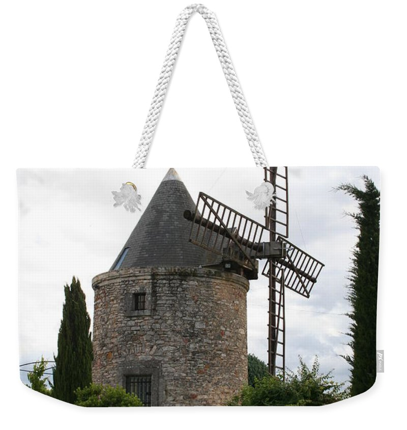 Mill Weekender Tote Bag featuring the photograph Old Provencal Windmill by Christiane Schulze Art And Photography