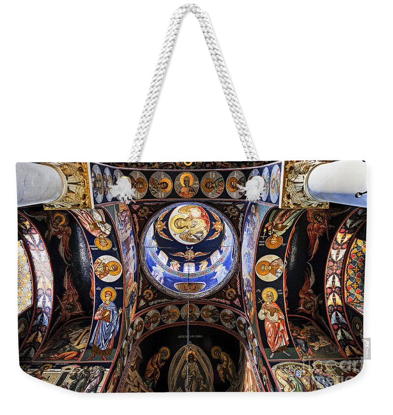 Mosaic Weekender Tote Bag featuring the photograph Orthodox Church Interior by Elena Elisseeva