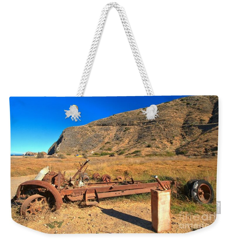 Scorpion Ranch Weekender Tote Bag featuring the photograph Out Of Gas by Adam Jewell