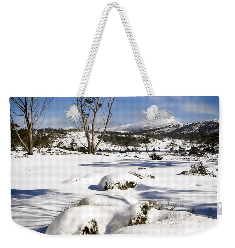 Landscape Weekender Tote Bag featuring the photograph Overland Track by Tim Hester