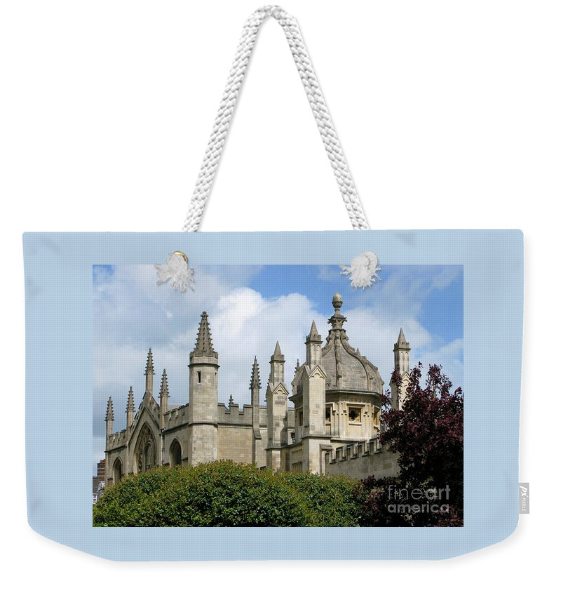 Oxford Weekender Tote Bag featuring the photograph Oxford Spires by Ann Horn