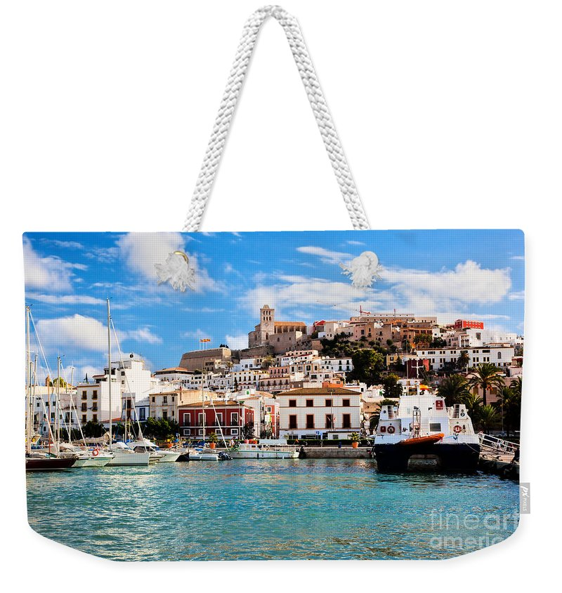 Ibiza Weekender Tote Bag featuring the photograph Panorama Of Ibiza Spain by Michal Bednarek