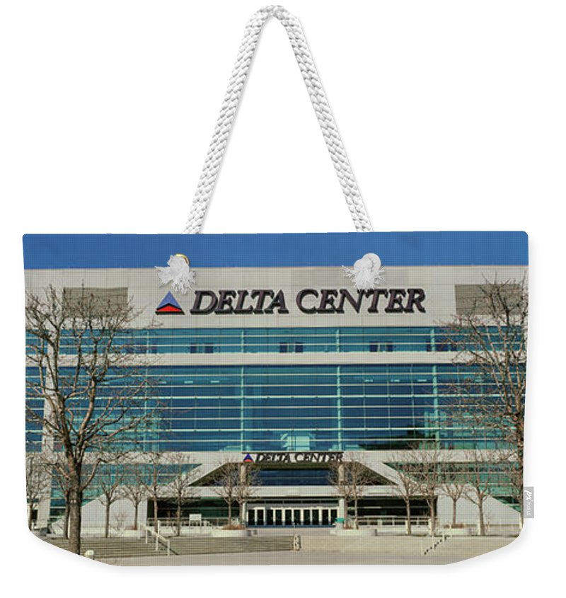 Photography Weekender Tote Bag featuring the photograph Panoramic Of Delta Center Building by Panoramic Images
