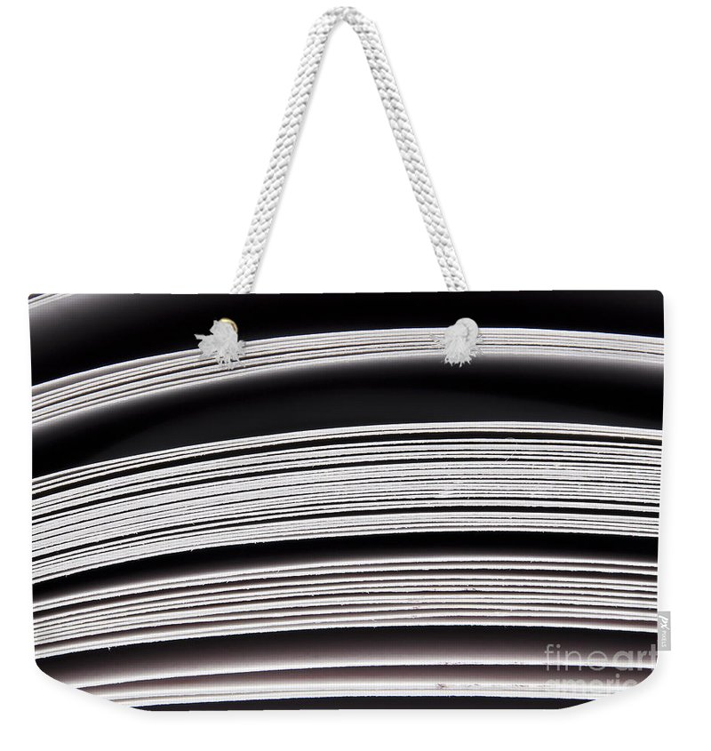 Binder Weekender Tote Bag featuring the photograph Paper Pages by Tim Hester