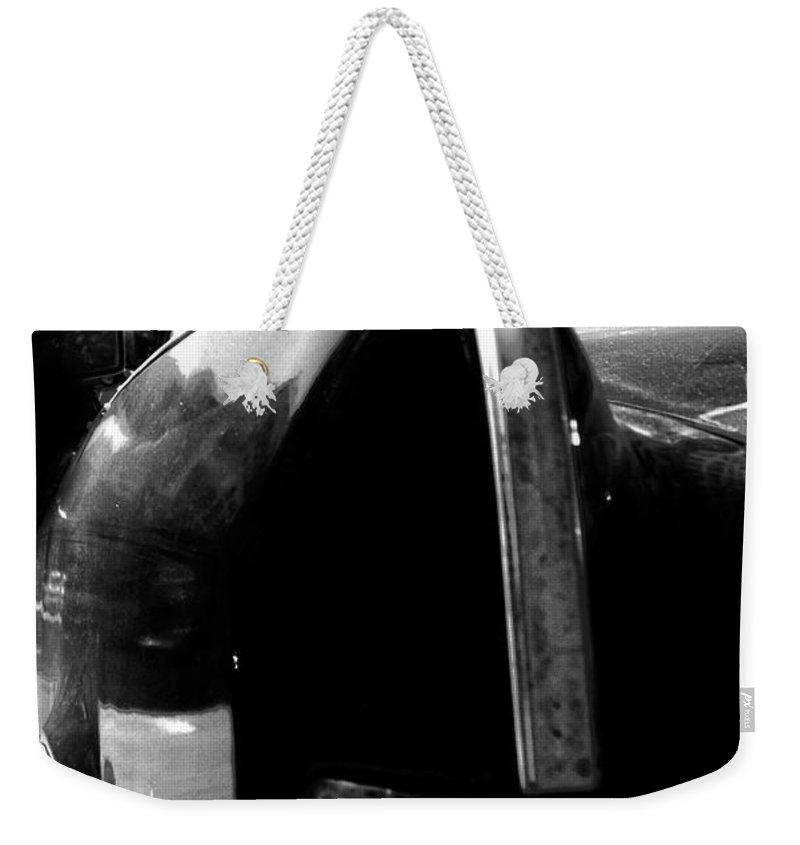 Old Car Weekender Tote Bag featuring the photograph Passenger Side by The Artist Project