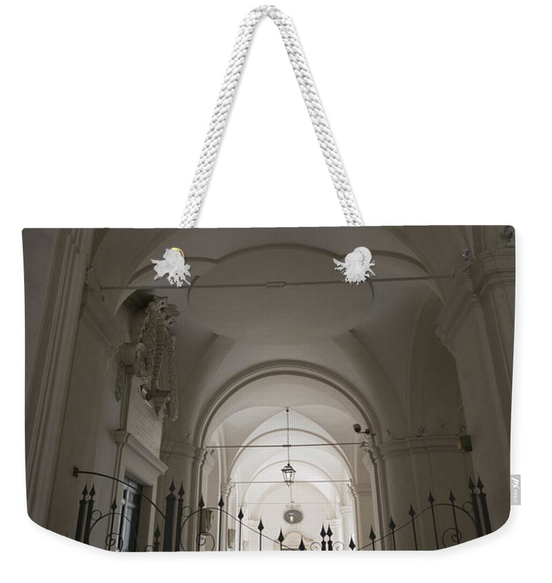 Gate Weekender Tote Bag featuring the photograph Patio by Mats Silvan