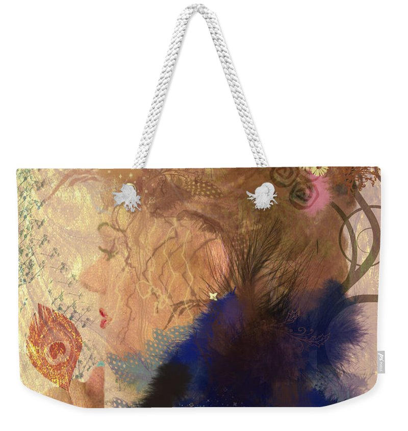 Portrait Weekender Tote Bag featuring the digital art Patricia Prays by Kim Prowse